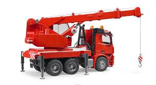 bruder fire truck kavanaghs toys bruder mercedes benz arocs crane truck with