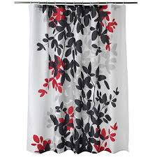 Curtains Black And Red Apt 9 Zen Leaf Shower Curtain I Love This Black And Red Design