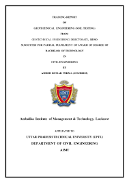 engineering test report template summer training report on soil testing experiments