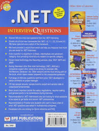 buy net interview questions book online at low prices in india