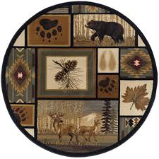 Nature Area Rugs Tayse Rugs Nature Multi Color 7 Ft 10 In Round Area Rug Ntr6660