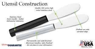 spreader black handle usa made by rada cutlery