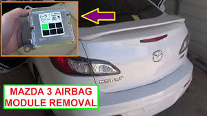 how to remove and replace the airbag module on mazda 3 2010 2011