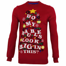 mens novelty funny christmas baubles thin knitted christmas jumper