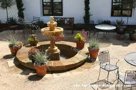 spanish courtyard designs round courtyard fountain ideas