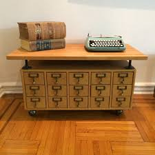 library card catalog coffee table in flatbush ditmas park