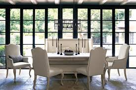 bernhardt dining room refined romantic luxury 46 rectangular dining table in sand