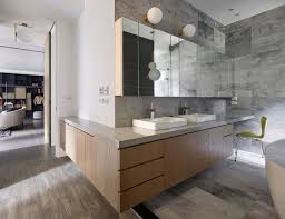 L Shaped Vanity Sojourn Contemporary Taipei Residence In Black White And Gray