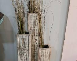 rustic floor vase etsy