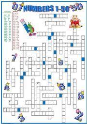 worksheet crossword numbers 1 50