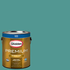 glidden premium 1 gal hdgcn10 barely jade satin latex exterior