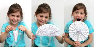 how to make paper fans how to make a paper fan smashed peas carrots