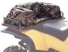 atv rear pad seat cushion 4 wheeler hunting off roading storage