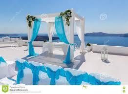 wedding decorations in santorini stock photo image 72458940