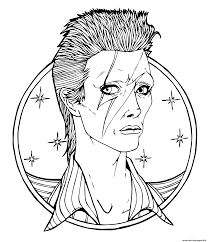 david bowie british rock star coloring pages printable