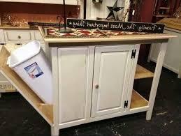 Kitchen Cart Ideas Kitchen Cart With Trash Bin Home Design Styles