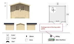 package size of a log cabin u2013 tuin information and support