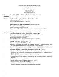 Bar Resume Examples by New Grad Rn Resume Sample Jennywashere Com
