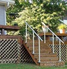 simple u0026 sturdy exterior stair railing simplified building