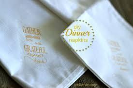 thanksgiving dinner napkins how to make fall dinner linen napkins pinkwhen