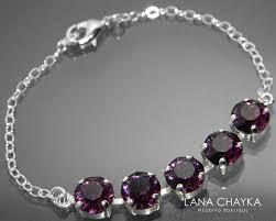 swarovski silver crystal bracelet images Amethyst crystal bracelet swarovski amethyst sterling silver jpg