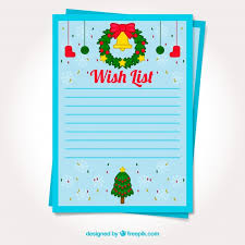 the christmas wish list template of a christmas wish list vector free