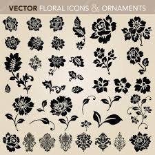 vector floral ornament set stock vector createfirst 5286770
