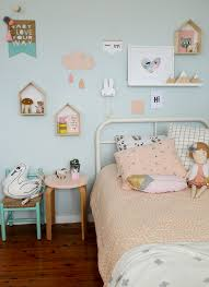 pastel blue kids bedroom paint color in scandinavian style with a