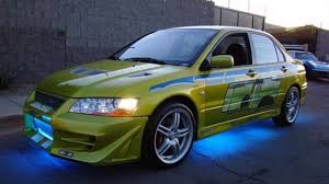 mitsubishi evo 7 custom paul walker u0027s mitsubishi evo from 2 fast 2 furious available on ebay