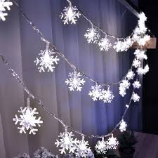 snow decoration 5m 40 led natal christmas led string lights tree fairy light