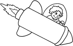 boy flying a space rocket coloring page free printable coloring