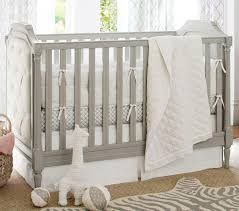 Gray Convertible Cribs by Blythe Convertible Cot Vintage Grey Pottery Barn Kids