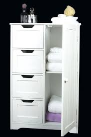 Free Standing Wooden Bathroom Furniture Bathroom Storage Furniture Four Drawer Door White Wooden Storage