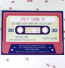 cassette tape 80s invitation by rodo creative notonthehighstreet com
