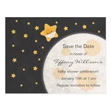 save the date baby shower twinkle baby shower save the date cards