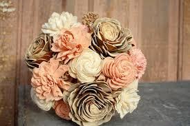 Gold Flowers Sola Flower Bouquet Brides Wedding Bouquet Champagne Rose Gold