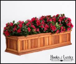 Redwood Planter Boxes by Redwood Flower Boxes Framed Slatted Window Boxes