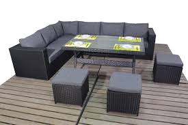 Outdoor Rattan Corner Sofa Prestige Black Rattan Corner Sofa With Dining Table Homegenies