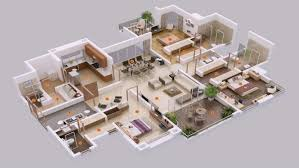 5 bedroom ranch style house plans 3d design and office floor s