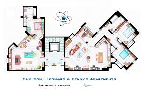 the big bang theory sheldon leonard and penny u0027s apartment floor