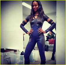 gamora costume zoe saldana reveals post baby in gamora costume photo