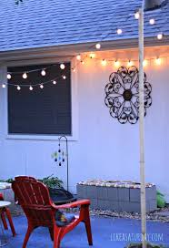 Diy Patio Lights by Best 25 How To Hang Patio Lights Ideas On Pinterest Backyard
