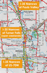 Interstate 10 Map Oklahoma Department Of Transportation I 35 Ardmore Project