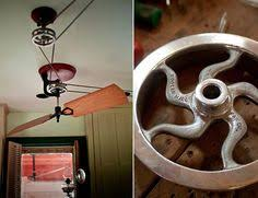 belt powered ceiling fan fanimation pulleys the brewmaster belt drive ceiling fan by