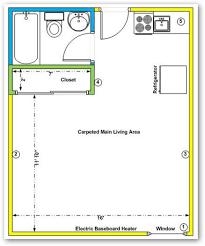 studio apartment floor plan decor