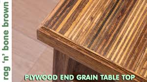 making a plywood end grain table top from offcuts part 1 of 2