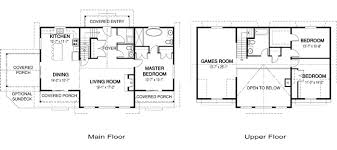 Two Storey Floor Plans Two Story Floor Plan With Large Games Room And 3 Bedrooms Center