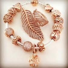 rose bracelet charm images Pandora gold charm bracelet rose gold pandora charm bracelet uk jpg
