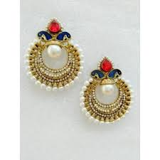 karigari earrings buy special designer earrings ad enamel pearl online
