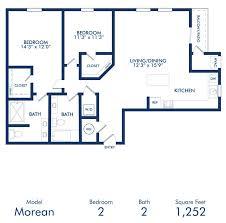 two bedroom two bath apartment floor plans studio 1 2 3 bedroom apartments in st petersburg fl camden